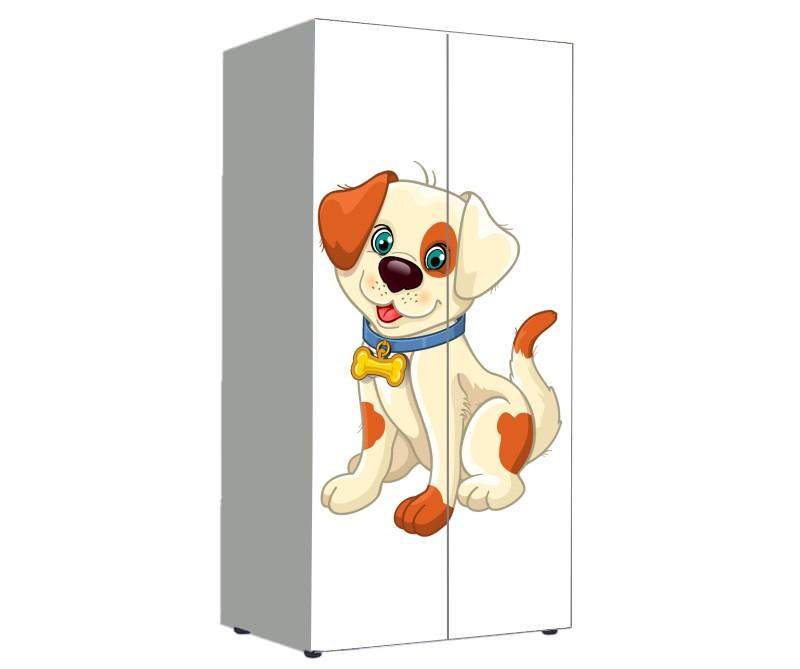 шкаф с мультяшной собачкой