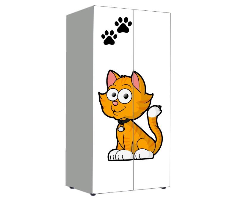 шкаф в детскую с котиком мультяшным