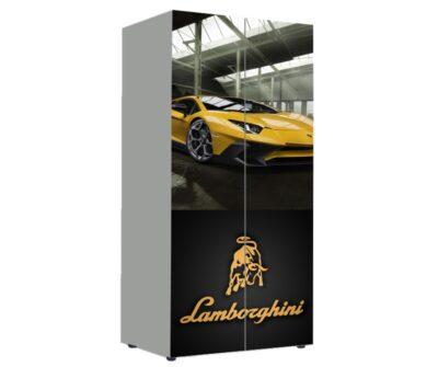 детский шкаф ламбо желтый
