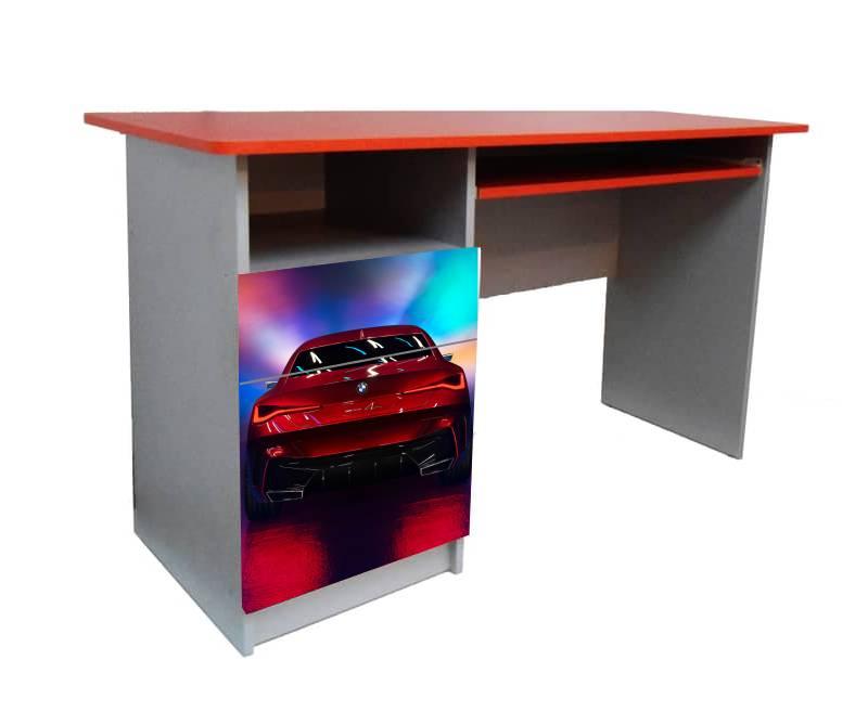 детский письменный стол красный бмв
