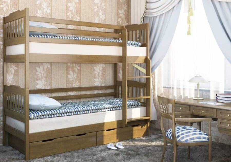 детская кровать ева двухэтажная