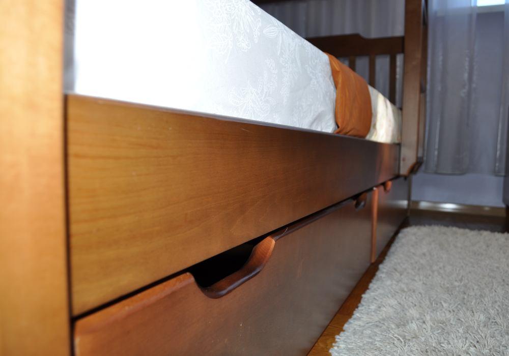 двухъярусная детская кровать ева ящик