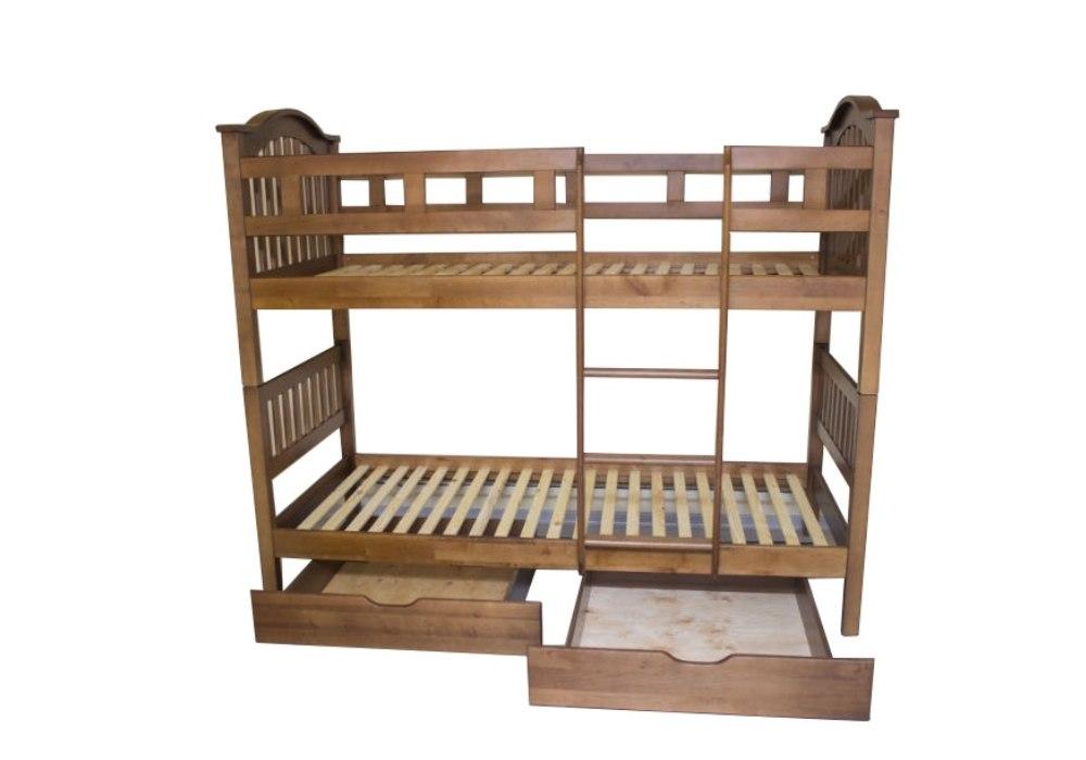 кровать двухъярусная детская трансформер максим с бортиками