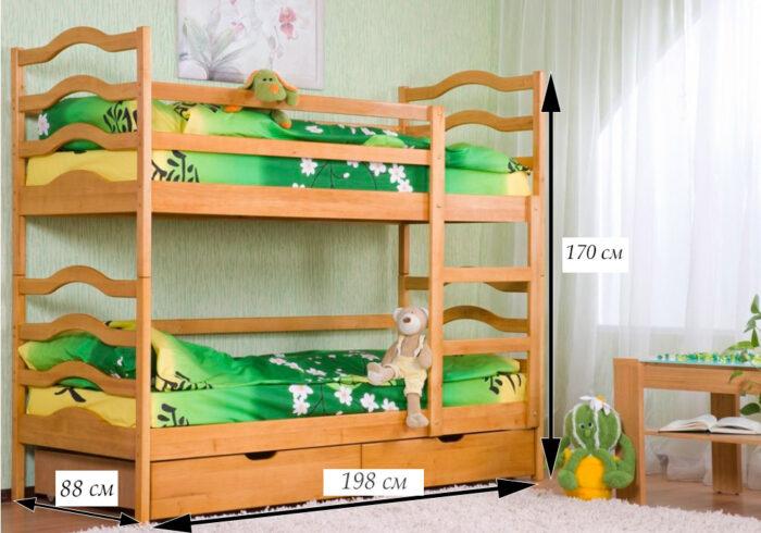 схема двухъярусной кровати софия