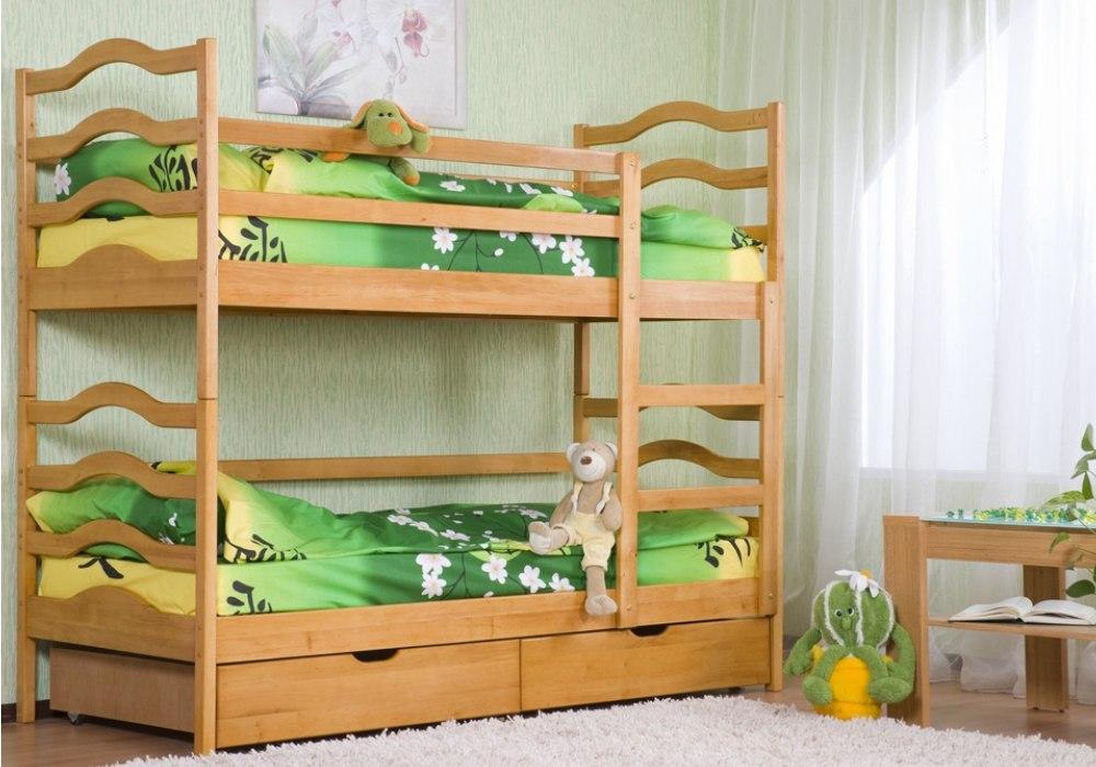 двухъярусная кровать софия из ольхи