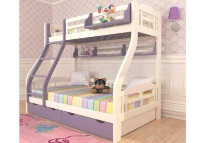двухъярусная детская кровать светлана с широким нижним спальным местом