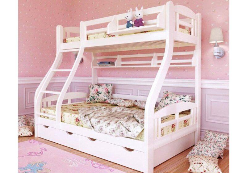 двухъярусная кровать светлана с широким спальным местом нижнего яруса