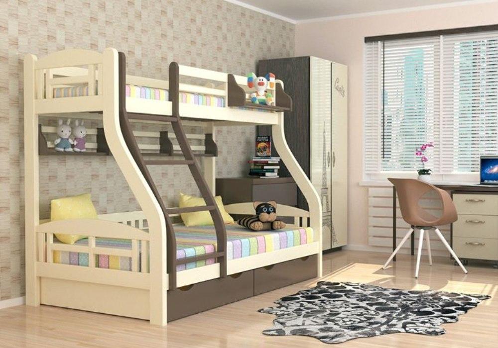 двухъярусная кровать светлана с широким нижним спальным местом