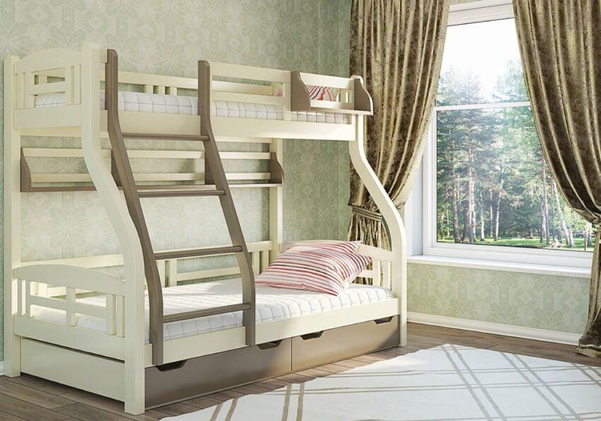 двухъярусная кровать светлана с расширенным спальным местом нижнего яруса