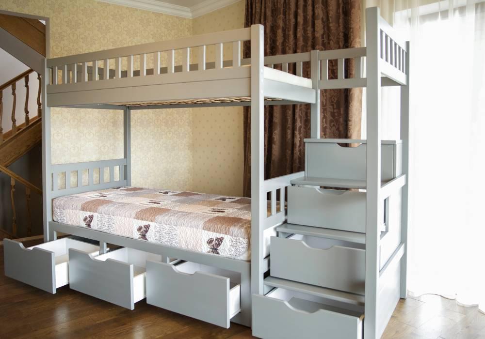двухъярусная кровать владимир с 6 ящиками