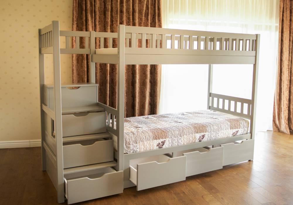 двухъярусная кровать владимир с лестницей с ящиками