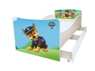 детская кровать киндер гонщик патруль