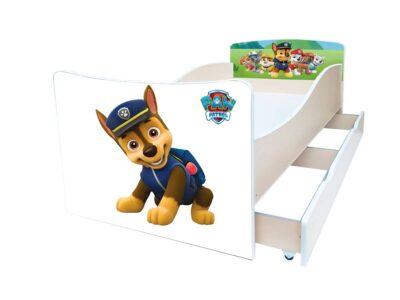 детская кровать киндер патруль гонщик