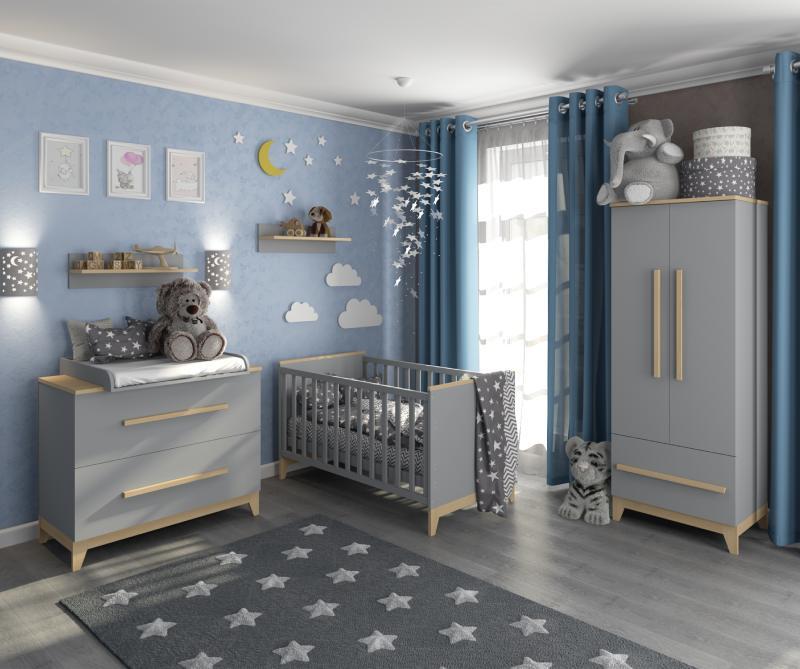 комната для новорожденных в сером цвете мила