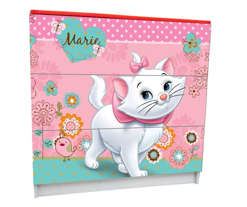 детский комод на 3 ящика кошка мэри