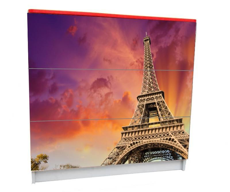 детский комод на 3 ящика для девочки эйфелева башня париж