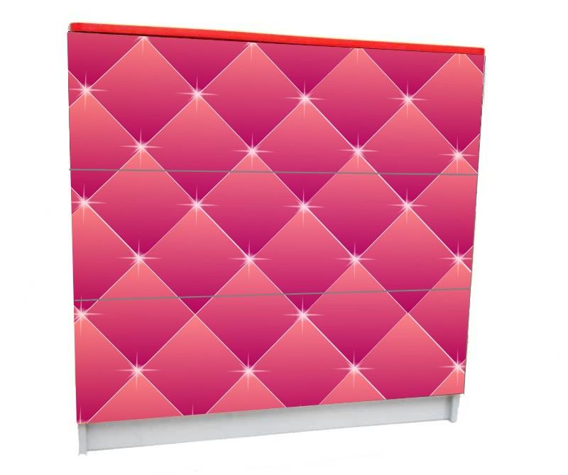 детский комод на 3 ящика розовый