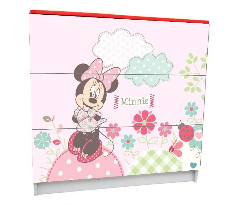детский комод на 3 ящика маус розовый