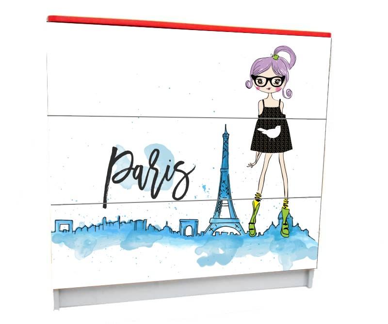 подростковый комод на 3 ящика париж девочка