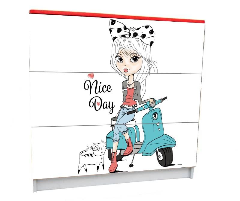детский комод на 3 ящика мода париж девочка