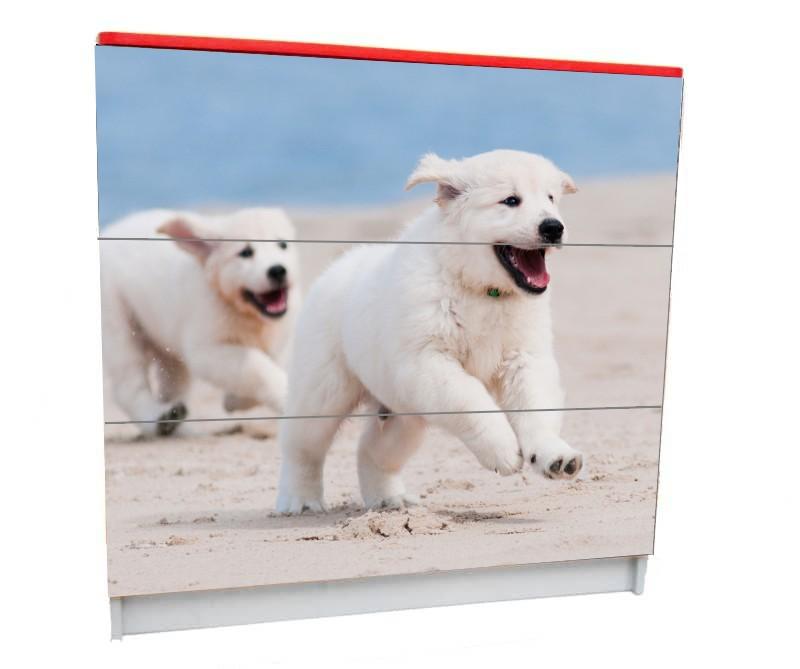 детский комод на 3 ящика с собачками
