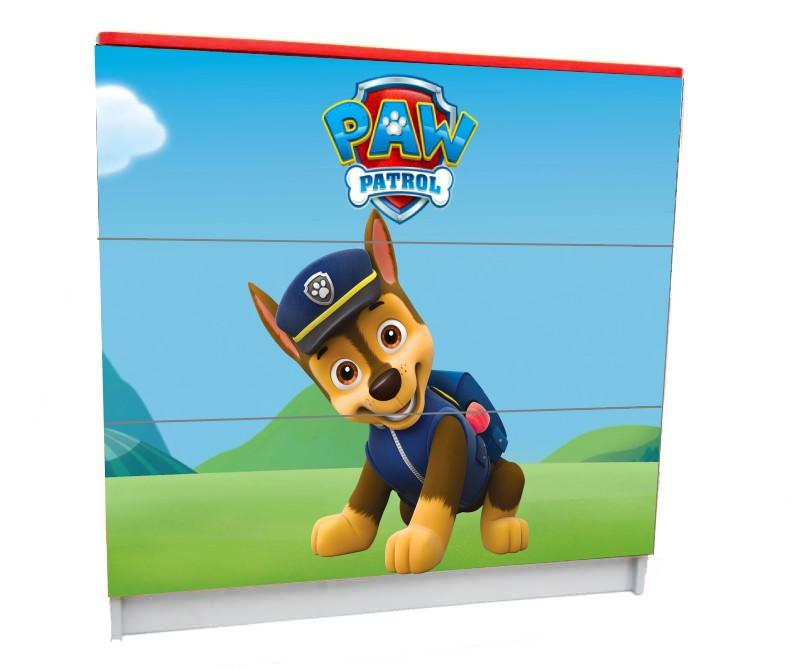 детский комод на 3 ящика гонщик щенячий патруль