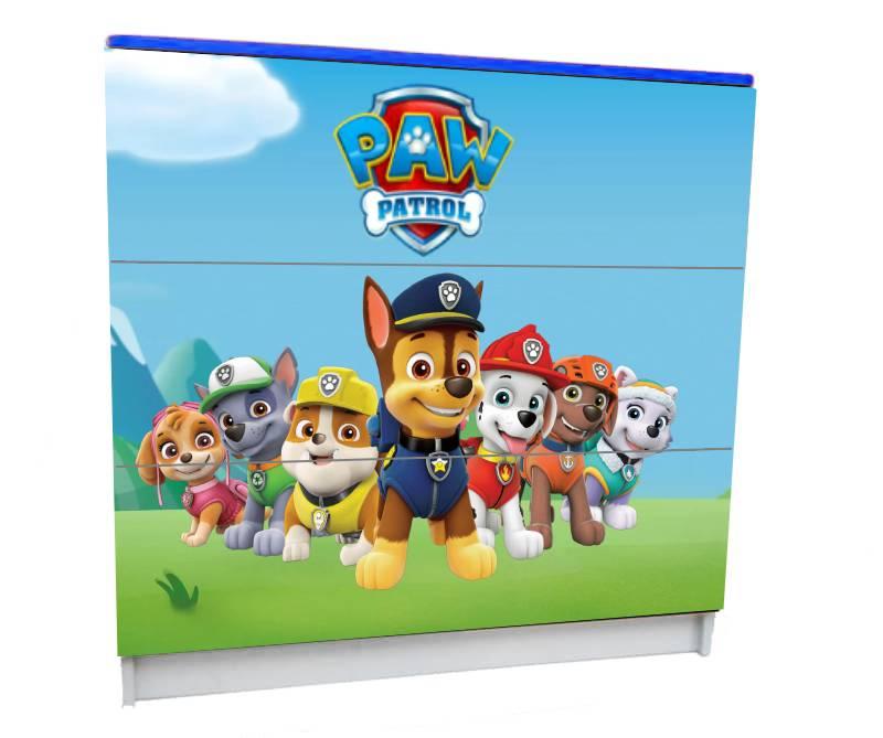 детский комод на 3 ящика щенячий патруль все герои