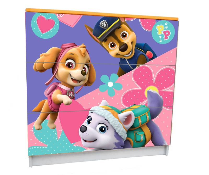 детский комод на 3 ящика скай розовый