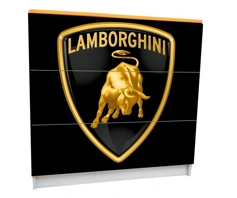 комод детский 3 ящика ламборджини логотип