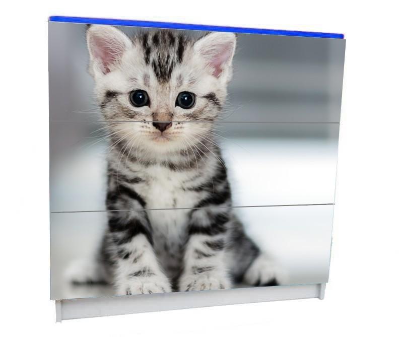 детский комод на 3 ящика котик маленький