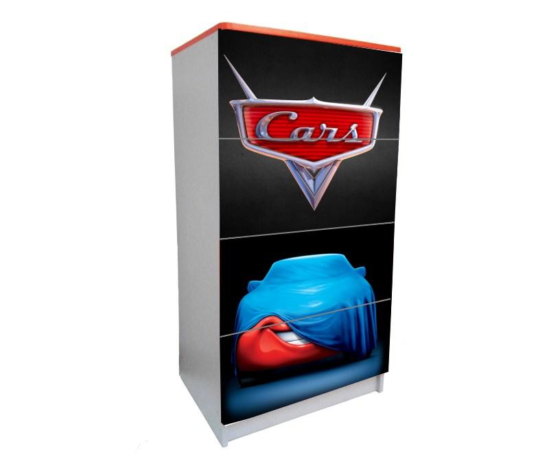 детский комод на 4 ящика маквин черный логотип