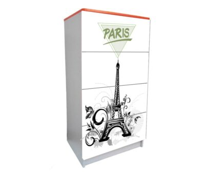 дитячий комод на 4 шухляди ейфелева вежа париж