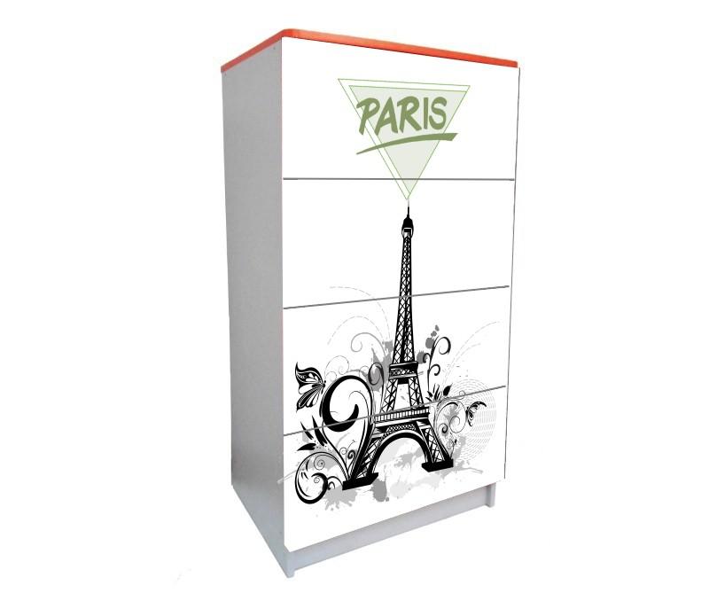 детский комод на 4 ящика эйфелева башня париж