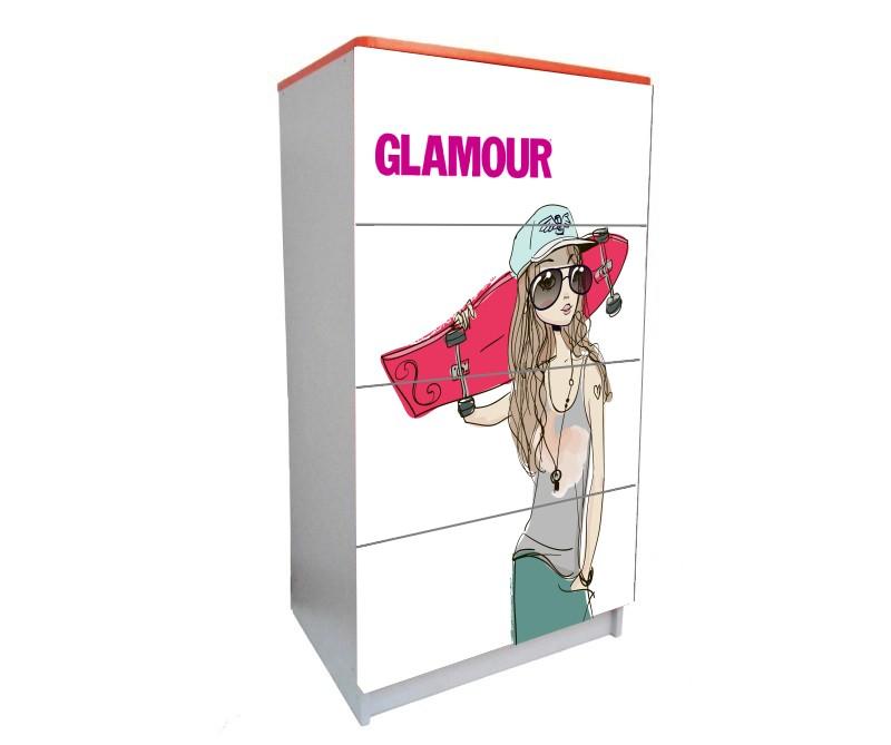 детский комод на 4 ящика для девочки девушка гламур