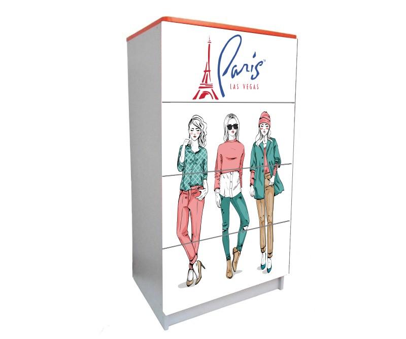 детский комод на 4 ящика париж девочки