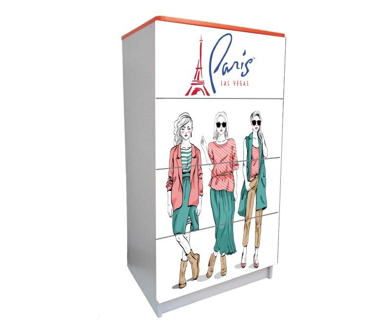 детский комод на 4 ящика мода париж