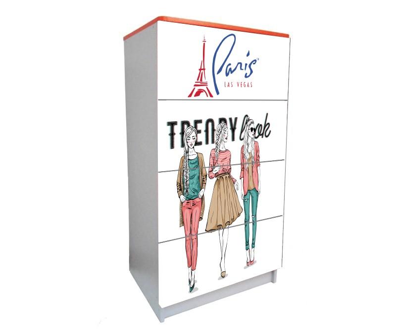 детский комод на 4 ящика париж мода