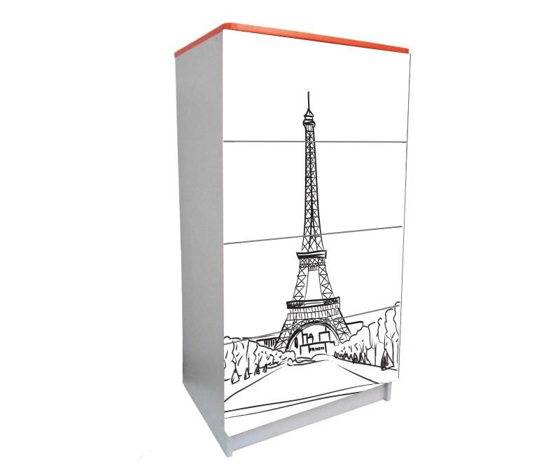 детский комод на 4 ящика эйфелева башня