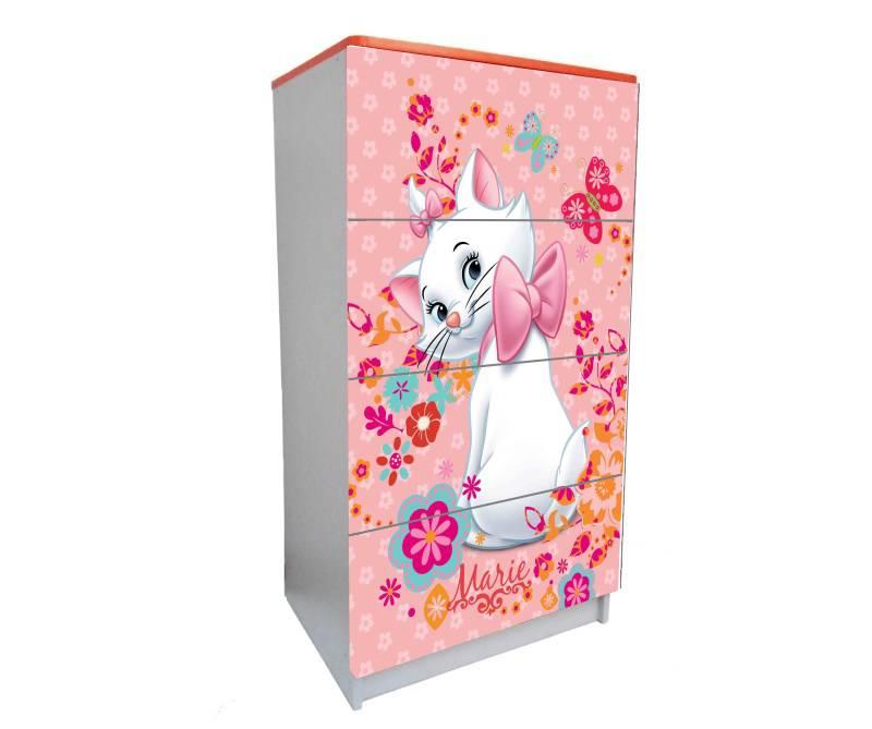 детский комод на 4 ящика кошка мэри