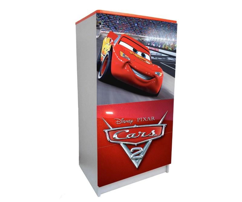 детский комод на 4 ящика маквин красный логотип