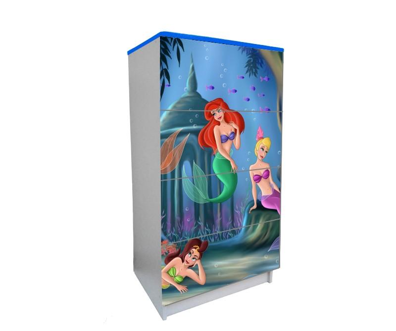 детский комод на 4 ящика русалочка принцессы