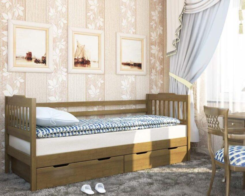 детская кровать ева с ящиками