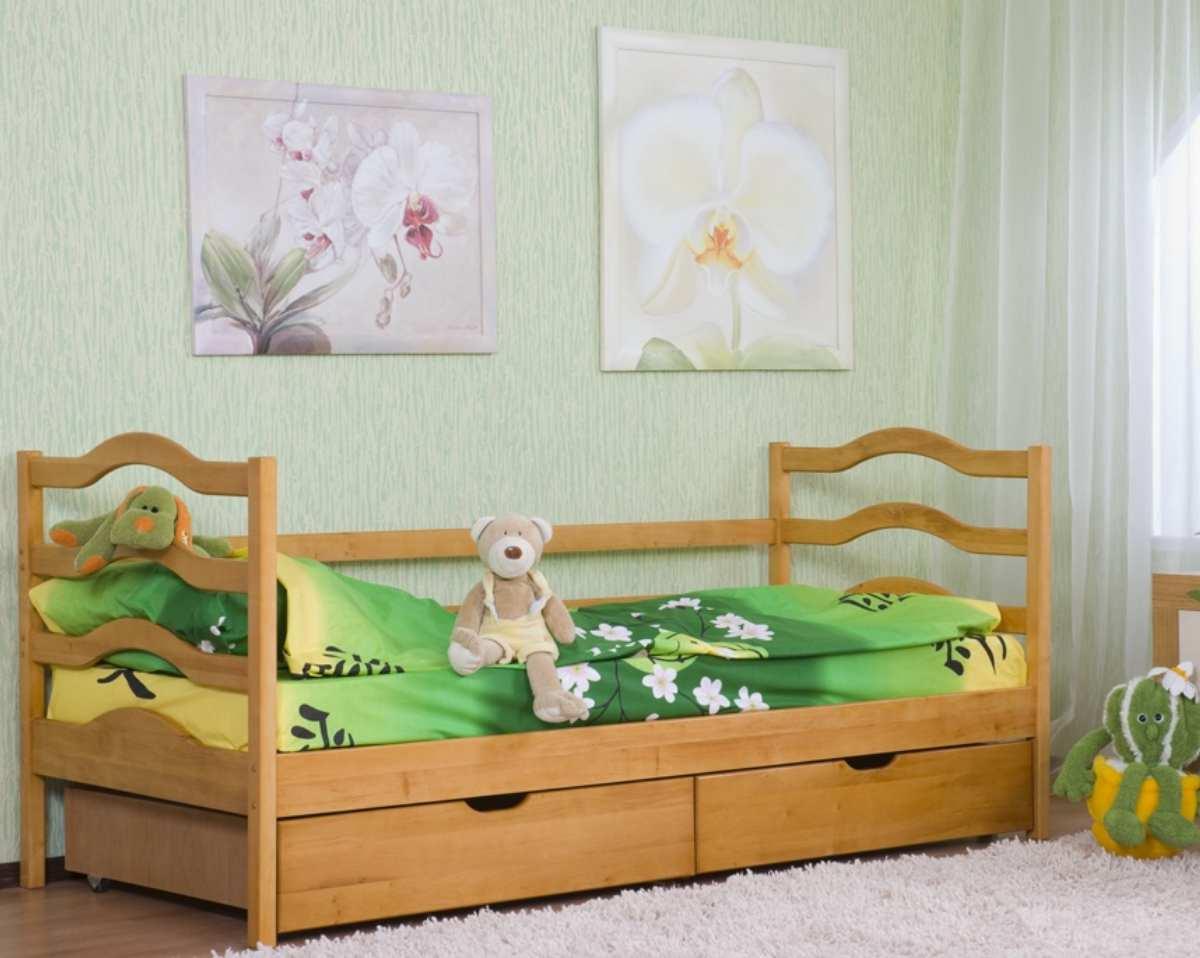детская кровать из ольхи софия