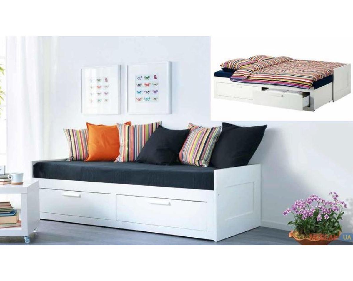 кровать трансформер с дополнительным спальным местом и ящиками кай