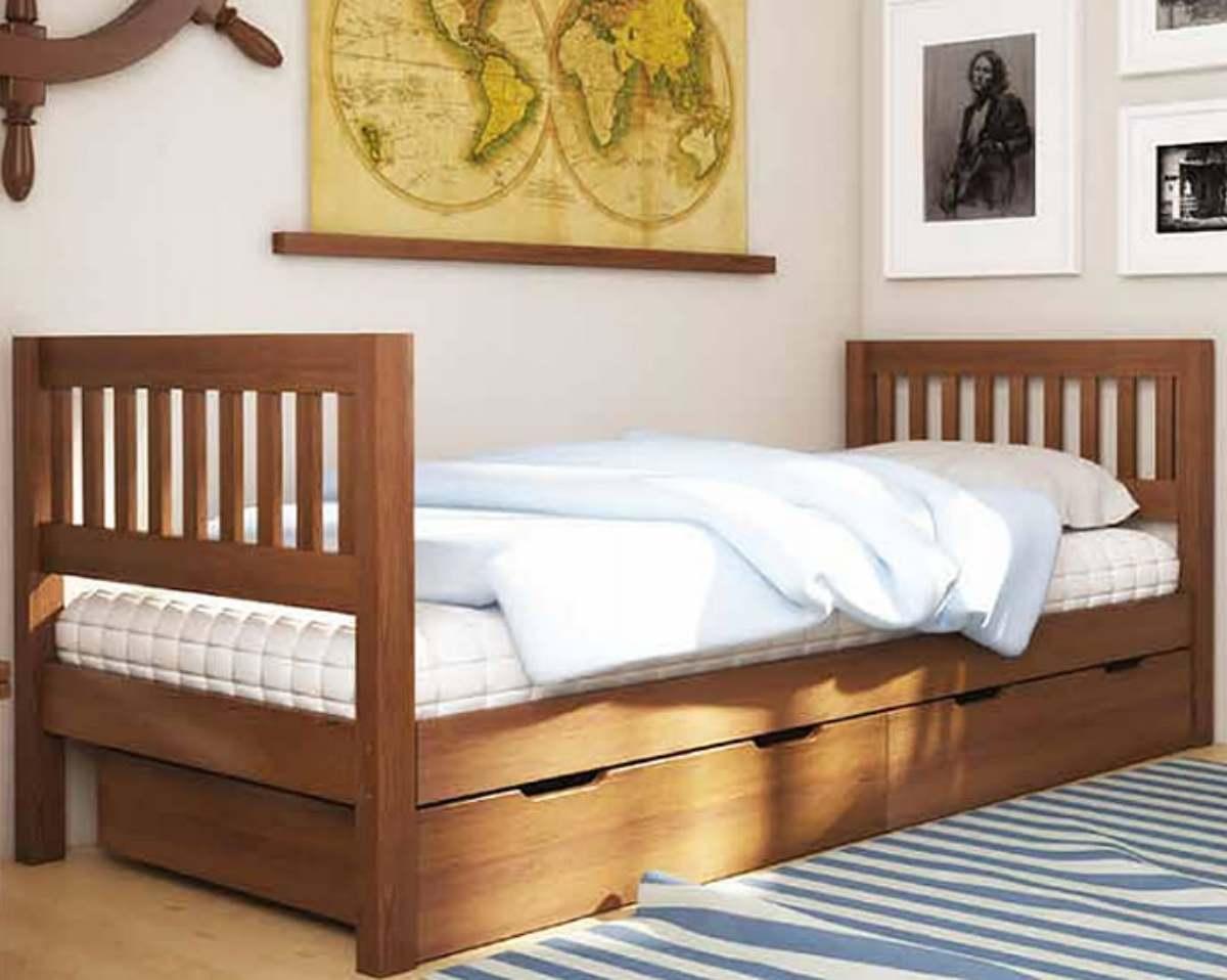 детская кровать максим из ольхи с ящиками
