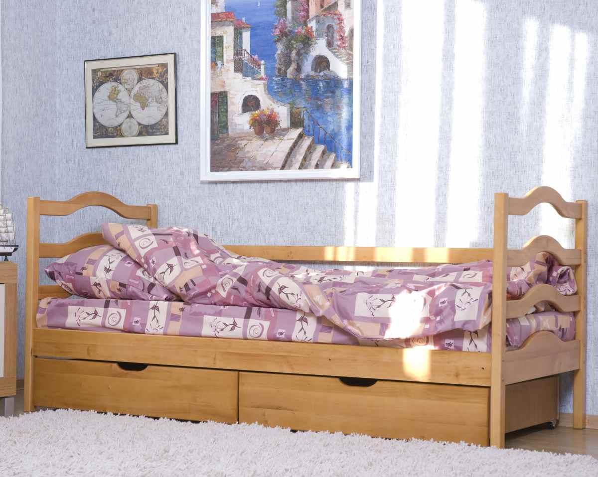 детская кровать из массива ольхи софия