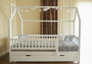 кровать домик детская викки нью