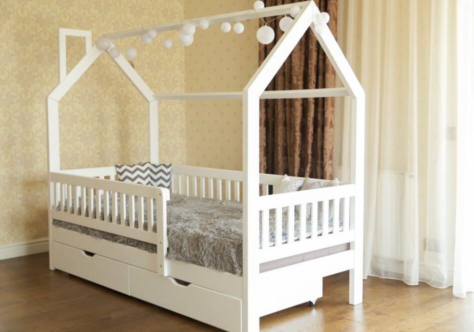детская кровать домик викки нью сбоку