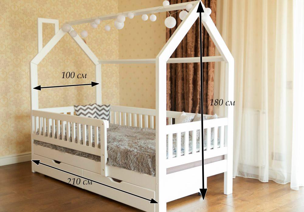 размеры кровати домика викки