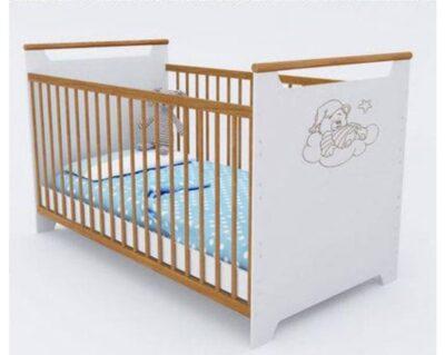 детская кроватка трансформер для новорожденных белая